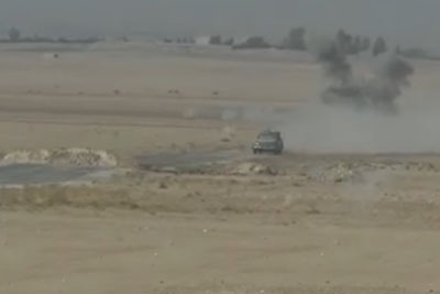 French Special Forces Destroying A Suicide Vehicle Using A Javelin Missile