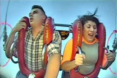 Guy Loses Conscious Few Times On A Big Slingshot Ride