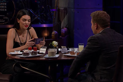 James Corden Plays Spill Your Guts Or Fill Your Guts With Kendall Jenner