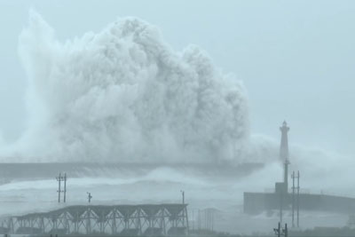 This Video From Taiwan Could Show The Biggest Crashing Waves Ever Filmed