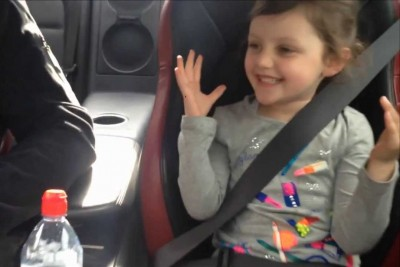 Dad Takes Daughter For Ride In 1000HP Nissan GT-R And She Loves It