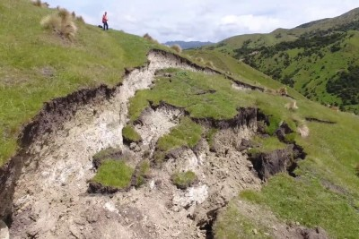 Drone Video Of The Kekerengu Fault Rupture Shows The Damage After New Zealand Earthquake