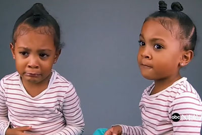 Twin Gets Upset When She Discovers Sister Is 1 Minute Older