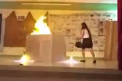 Two Girls Are Set On Fire In The Middle Of School Play