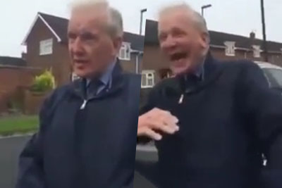 Elderly British Man Educates Young Men On Hitler With Inappropriate Joke