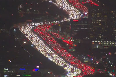 Look At This Unreal LA Traffic Jam And Be Glad You Live Elsewhere