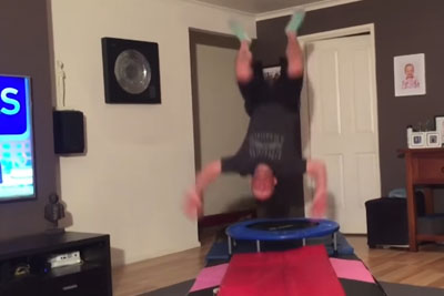 Dad Tries To Copy Daughter's Gymnastic Moves And It's Hilarious