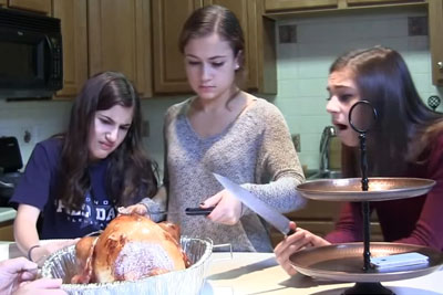 Dad Pranks His Three Daughters With A Pregnant Turkey On Thanksgiving Day