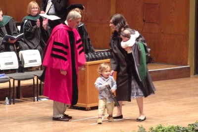 Toddler Steals The Show And Gives Away Mom's M.D.