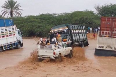 Crossing A River In Somaliland After Water Takes Out A Road
