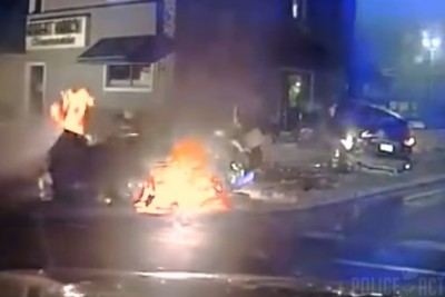 Dashcam Captures Fiery Crash After Police Chase in Wisconsin