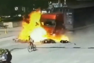 Truck With Brake Failure Causes Deadly Accident In China