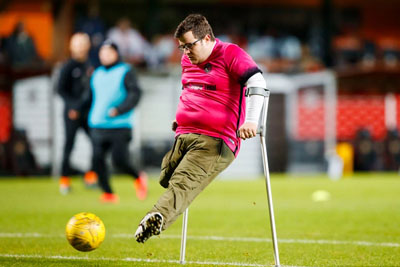 One-Legged Dundee United Fan Scores Amazing Goal At Tannadice
