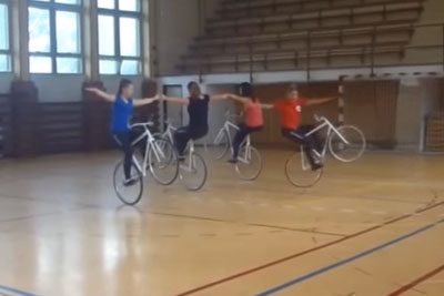 Artistic Cycling Training Like You've Never Seen Before