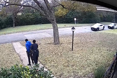 Burglar Gets Caught By Police After Breaking Into The House In Dallas, Texas