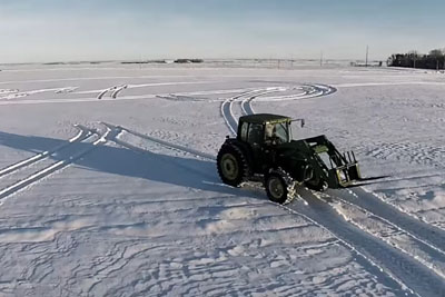Tractor Writes Message In The Snow, Has The Internet Applauding In Agreement