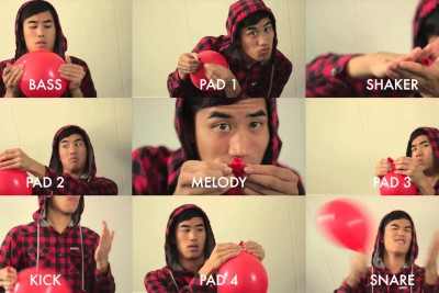 99 Red Balloons Song Played With... Red Balloons!