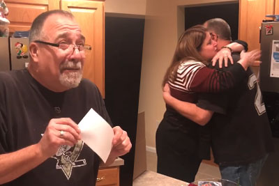 Just The Nicest Man Gets Very Emotional When His Wife Gifts Him Rose Bowl Tickets