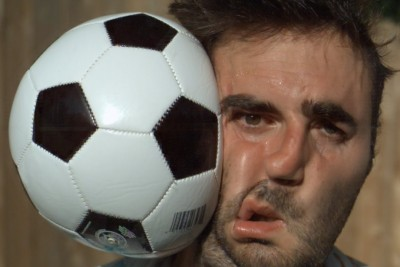 This Is What A Soccer Ball Does To Your Face In Slow Motion