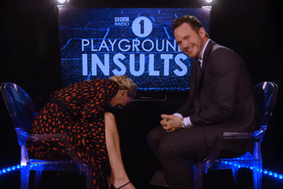 Watch Jennifer Lawrence And Chris Pratt Sling Dirty Insults At Each Other