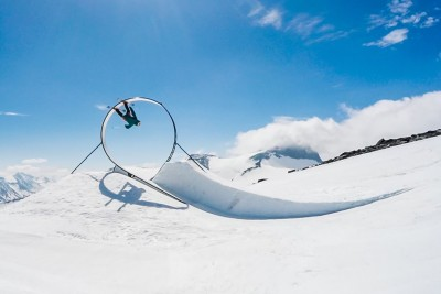 Professional Skier Jesper Tjader Performs An Epic Trick In A Loop