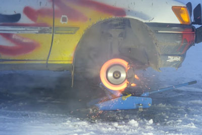 This Is How Explosion Of Car Brake Looks Like In Slow Motion