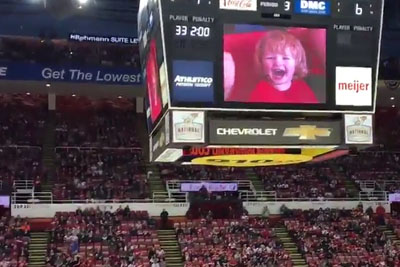 Fans At A Hockey Game Go Crazy For A Little Kid But Boo Everyone Else