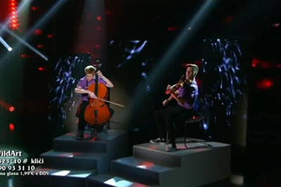 Two Boys With Cello And Violin Win Slovenia's Got Talent With Their Crazy Performance