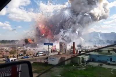 Mexico Tultepec Fireworks Market Explosion Captured On Camera