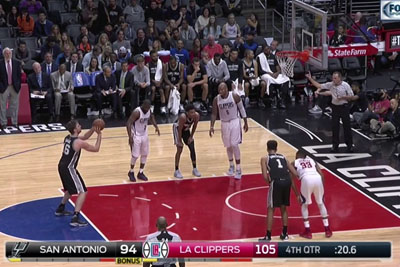 Spurs Were 9 Points Behind Clippers 20 Seconds Before End, Then This Happened
