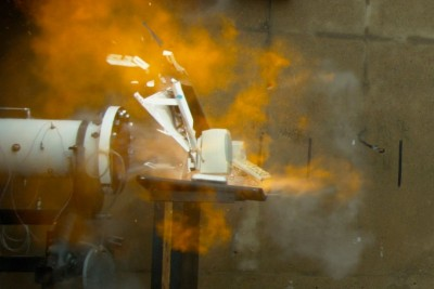 How A Destruction Of iMac With A Combustion Tube Looks LIke In Slow Motion