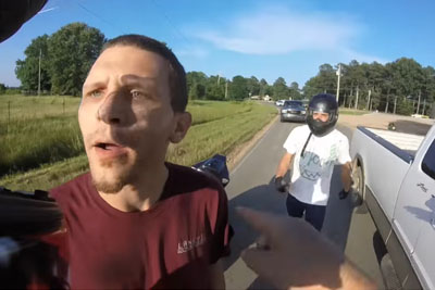 Dumb Driver Gets An Instant Punishment From Bikers After Almost Hitting Them