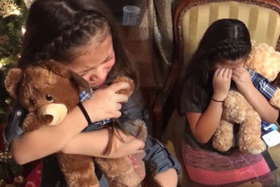 One Year Ago Their Grandpa Passed Away, Now They Got The Best Christmas Present That Made Them Cry
