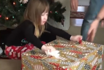 Cat Surprises 3-Year-Old Girl For Christmas And Everyone Is Laughing About This