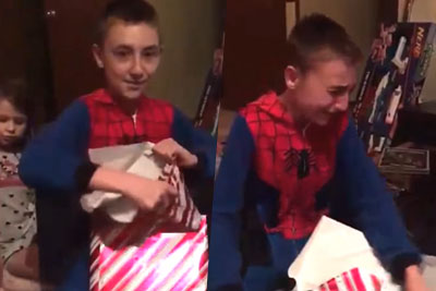 Most Heartwarming Christmas Video Of Little Boy's Reaction When Opening Adoption Certificate