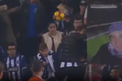 Female Fan Is Hit Flush In The Face When Wayward Shot Sails Into The Crowd