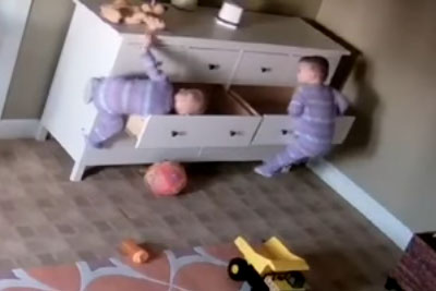 Two Year Old Miraculously Saves His Twin Brother After A Heavy Dresser Falls On Him