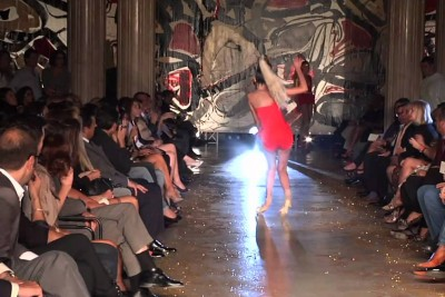 Beautiful Model Falls On The Runway In Longest Way Possible
