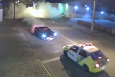 Guy Drifted His Corvette In A Turn, But Police Officers Saw Everything