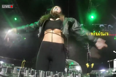 Female DJ Embarrasses Herself When This Falls Out Of Her Top Shirt
