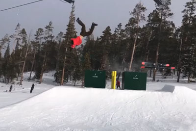This Must Hurt! See How Skier Crushes His Ribs At Ski Resort...