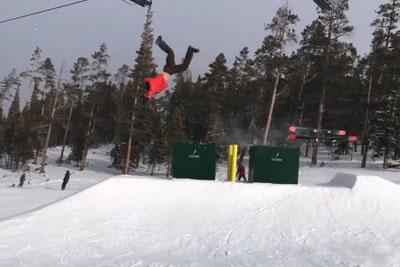 This Must Hurt! See How Skier Crushes His Ribs At Ski Resort...
