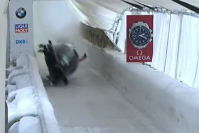Shocking Bobsled Crash Of British Duo Mica McNeill And Mica Moore In Altenberg, Germany