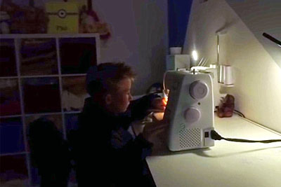 Little Boy Sneaks Away Mom's Sewing Machine, His Creations Have The Internet In Tears