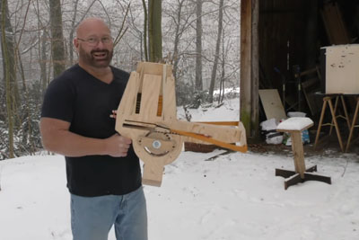 This Guy Invents A Home Made Full Auto Crossbow