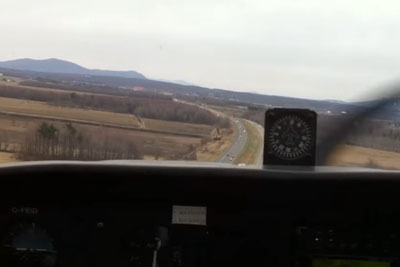 Emergency Landing On Highway Captured From Inside The Plane