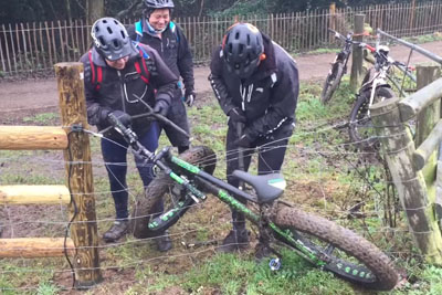 Hilarious Moment When Bike Gets Caught On An Electric Fence