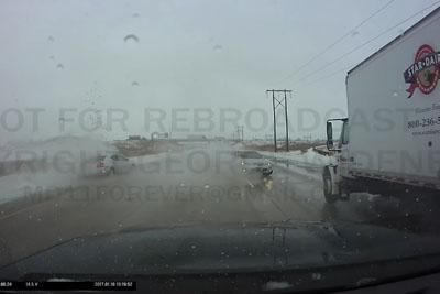 Multi Vehicle Crash Captured On Dashcam On I-41 In Oshkosh, Wisconsin
