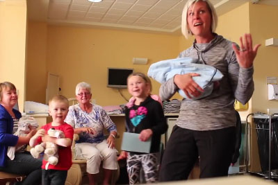 When They Got Pregnant With Twins, They Kept It A Secret - See Family Reaction On Newborn Twins