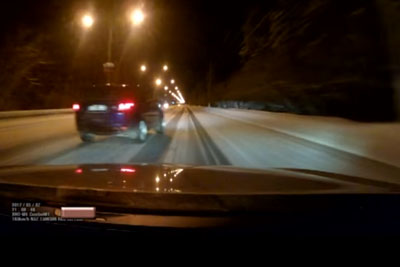 Speeding Driver In Russia Gets A Hard Lesson On Driving On Snow